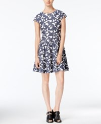 Maison Jules Denim Lace Fit And Flare Dress Only At Macy's Indigo Combo