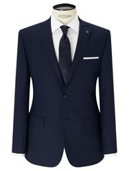 Daniel Hechter Textured Tailored Fit Suit Jacket Navy