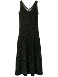 Sara Lanzi Glitter Sleeveless Dress Black