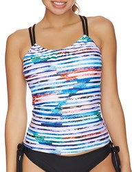 Next Perfect Alignment Third Eye 2 Removable Soft Cup Shirred Tankini Multi