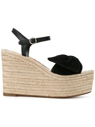 Valentino Woven Wedge Sandals Black