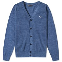 Fred Perry Textured Pique Cardigan Blue