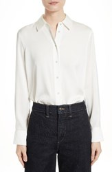 Vince Women's Stretch Silk Blouse White
