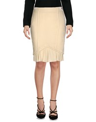 Gold Case Knee Length Skirts Ivory