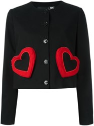 Love Moschino Heart Jacket Black