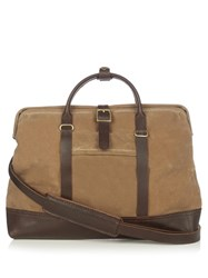 Malle Jack Waxed Cotton Canvas Messenger Bag Tan