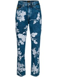 Vivienne Westwood Anglomania Floral Print Jeans Blue