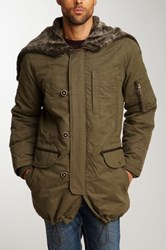 Cole Haan Military Parka With Shearling Hood