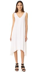 James Perse Double V Dress White