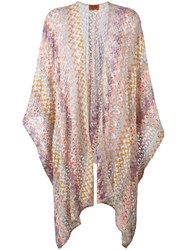 Missoni Open Knit Cardigan Women Cupro Viscose Polyester One Size