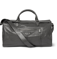 Balenciaga Creased Leather Holdall Gray