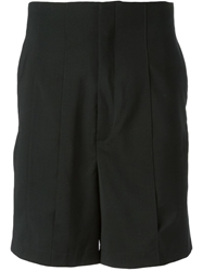 Thamanyah Panelled Tailored Shorts Black