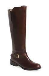 Women's Bella Vita Tall Riding Boot Dark Brown Leather