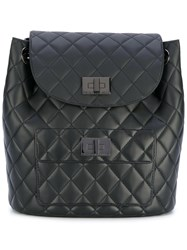 Designinverso Quilted Backpack Women Polyurethane One Size Black