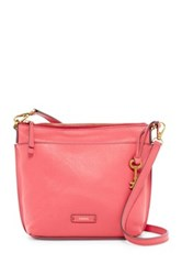 Fossil Julia Leather Crossbody Pink