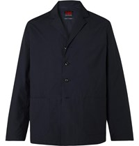 The Workers Club Camp Collar Unstructured Twill Blazer Blue