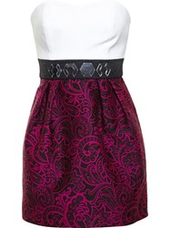 Mary Katrantzou Bustier Dress With Embroidery White