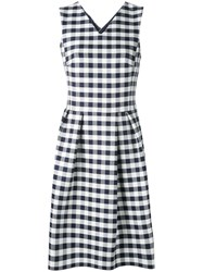 Paul Smith Ps By Checked Dress Women Cotton 40 White