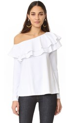 Susana Monaco One Shoulder Top Sugar