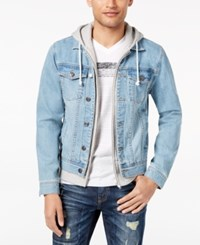 American Rag Men's Layered Look Trucker Jacket Created For Macy's Mist Wash
