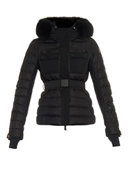 Moncler Grenoble Besse Coyote Fur Trim Quilted Down Ski Jacket
