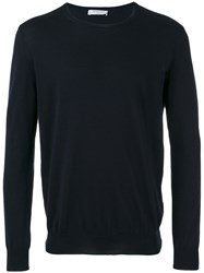 Boglioli Crew Neck Sweater Blue