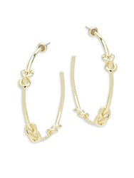 Noir Knot Hoop Earrings 2 Gold