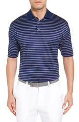 Bobby Jones Men's Boardwalk Stripe Golf Polo Summer Navy