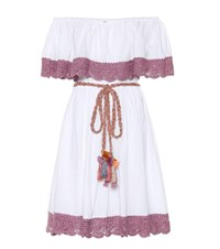 Anna Kosturova Casablanca Crochet Cotton Dress White