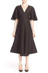 Vika Gazinskaya Silk And Cashmere Dress Black