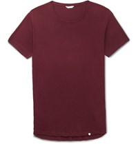 Orlebar Brown Ob T Slim Fit Cotton Jersey T Shirt Burgundy