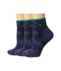 Smartwool Phd Outdoor Light Mini Pattern 3 Pack Mountain Purple Women's Crew Cut Socks Shoes