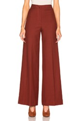 Helmut Lang High Waisted Pants In Red Brown