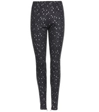 Balenciaga Printed Leggings Black