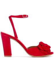 Chie Mihara 'Lila' Sandals Women Leather Suede Rubber 37 Red