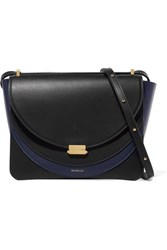 Wandler Luna Color Block Leather Shoulder Bag Midnight Blue