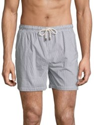 Solid And Striped Classic Sagaponack Shorts Blue Stripe