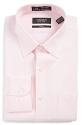 Nordstrom Men's Big And Tall Men's Shop Smartcare Tm Trim Fit Solid Dress Shirt Light Pink