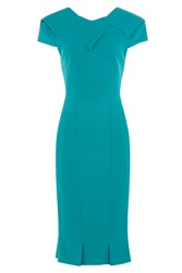 Roland Mouret Tailored Dress Turquoise