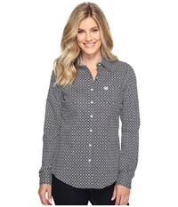 Cinch Cotton Plain Weave Print Navy Women's Clothing