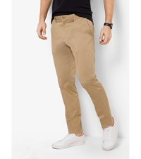 Slim Fit Stretch Cotton Trouser Khaki