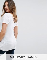 New Look Maternity Cross Back T Shirt White