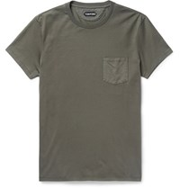 Tom Ford Slim Fit Cotton Jersey T Shirt Green