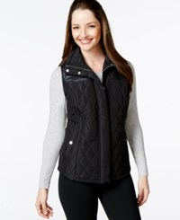 Styleandco. Style And Co. Sport Quilted Zip Front Vest Only At Macy's Deep Black