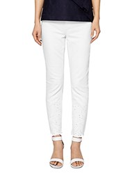 bccdf6063deb0c Ted Baker Marriaa Embroidered Skinny Jeans In White