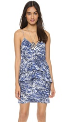 Twelfth St. By Cynthia Vincent Ruffle Cami Dress Granite Speckle