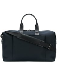 Troubadour Fabric Leather Weekender Blue