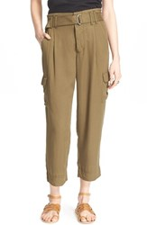 Women's Free People Crop Cargo Pants Army