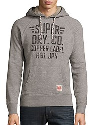 Superdry Heathered Cotton Blend Pullover Shale