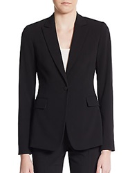 Tahari Darcy One Button Blazer Black